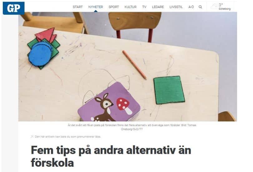 Nannynu! i Göteborgsposten