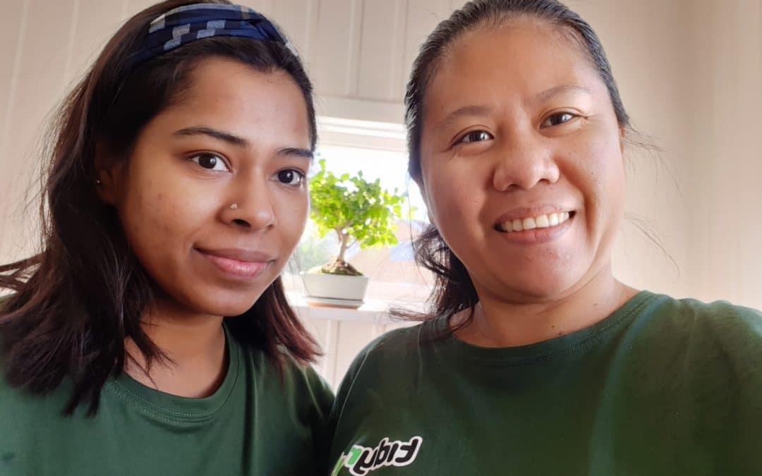 Välkomna Anisha och Marjorie